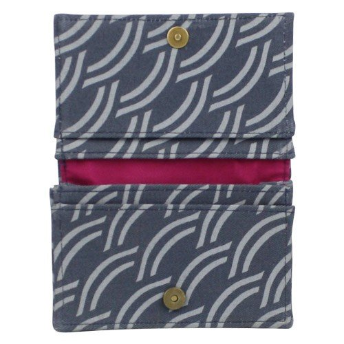 Cotton Card Holder Upcycled Canvas