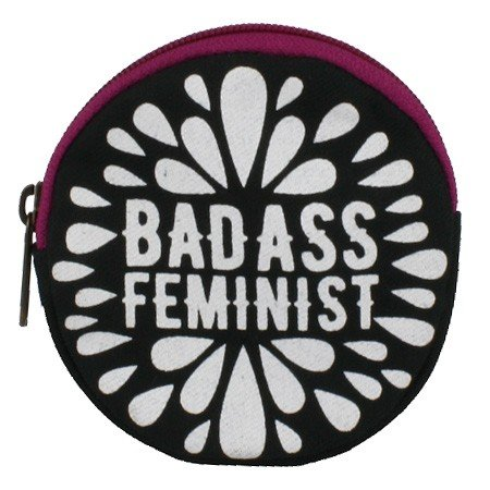 pink feminist coin purse