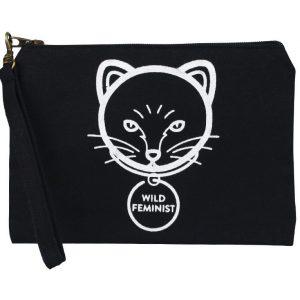 wild feminist wristlet pouch