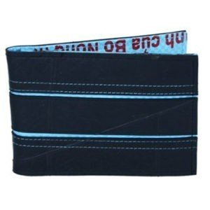 vegan mens wallet blue