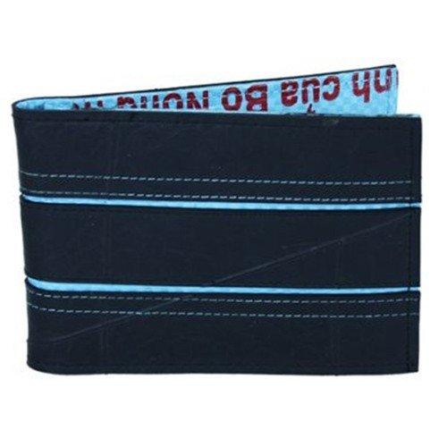 vegan mens wallet blue