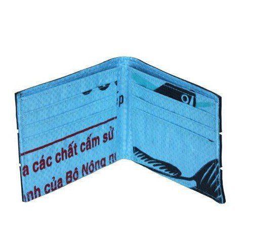 Men's Tire Wallet lite blue print