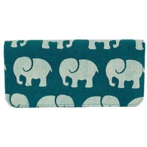 Cotton Long Wallet Elephant Prints