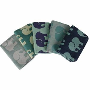 Cotton Card Holder Elephant Prints