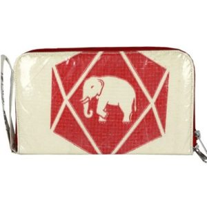 Recycled Cement Diamond Elephant Travel Wallet