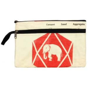 Cement Double Zip Case Diamond Elephant