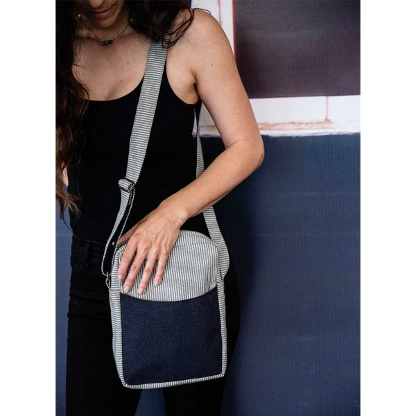 Denim Deep Pocket Crossbody