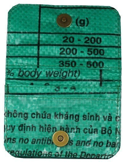 Recycled Feed Bag green Cardholder