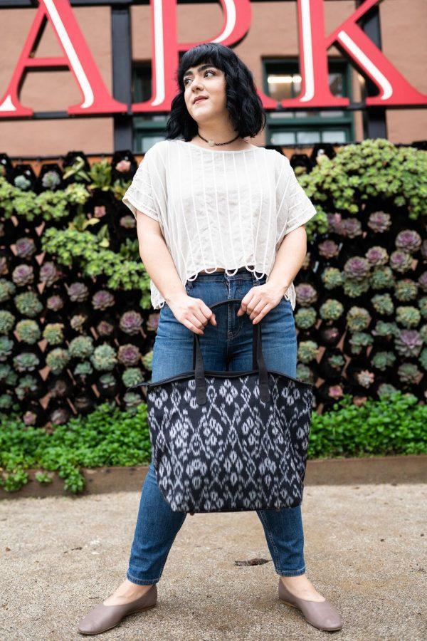 Ikat Large Shoulder Bag model