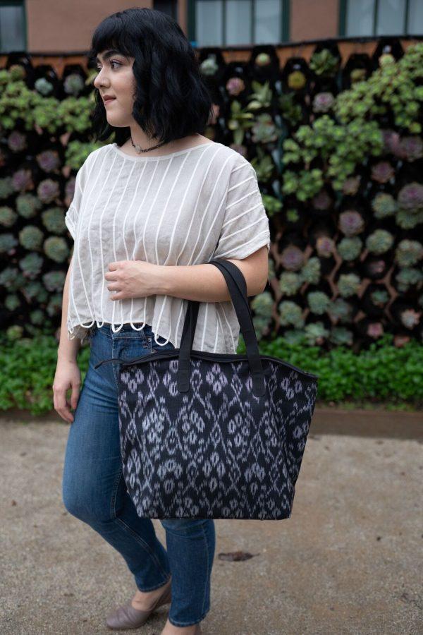 Ikat Large Shoulder Bag