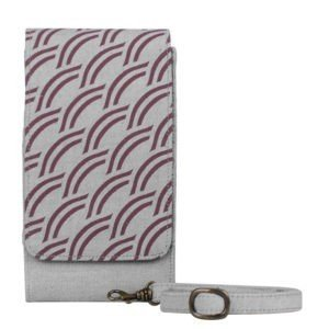 light grey canvas phone case wallet
