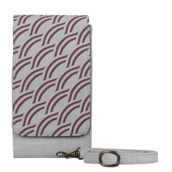 light grey canvas phone case wallet