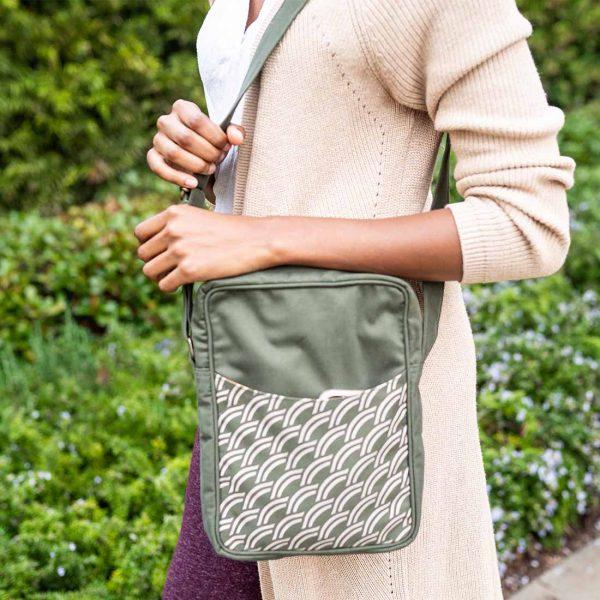 army green canvas crossbody bag