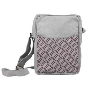 light grey canvas cross body