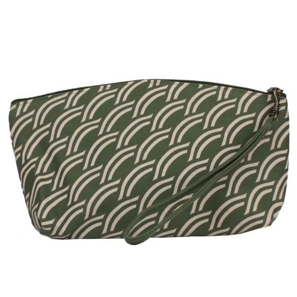 sage green cosmetic case