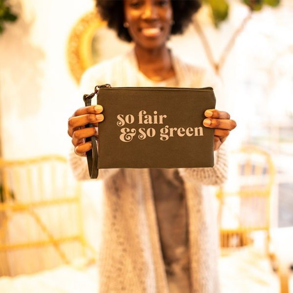 fair and green wristlet