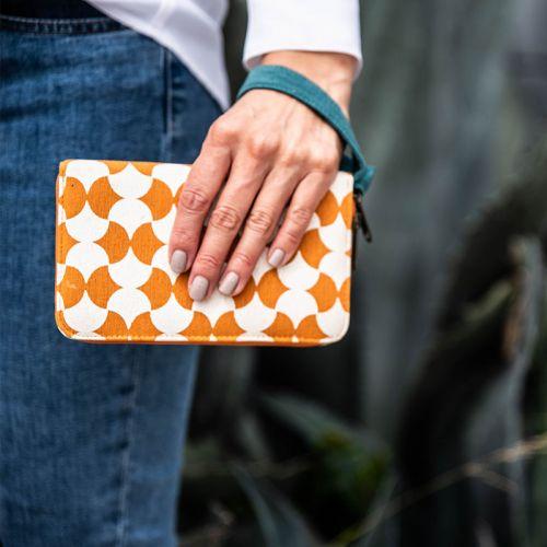 Cotton Travel Wallet Geometric Prints