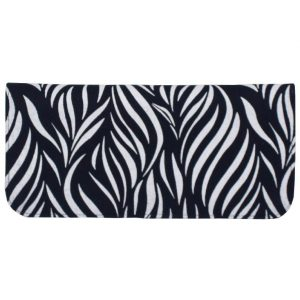 cotton wallet with navy leaf print