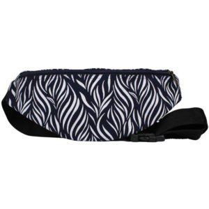 cotton fanny pack navy zebra print