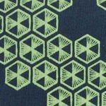 Navy Hexagon
