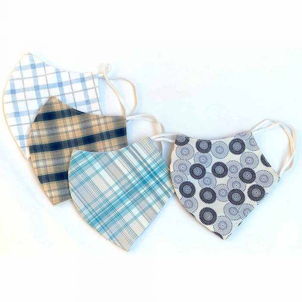 plaid print face masks