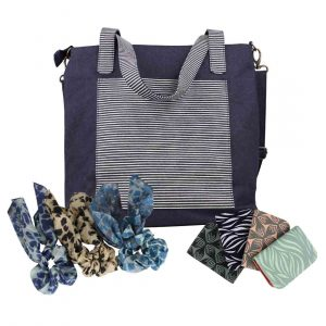 fair trade denim tote bag