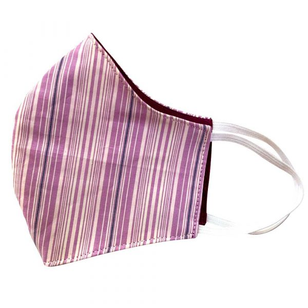 purple stripe face mask