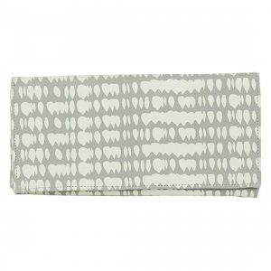 grey raindrop canvas wallet