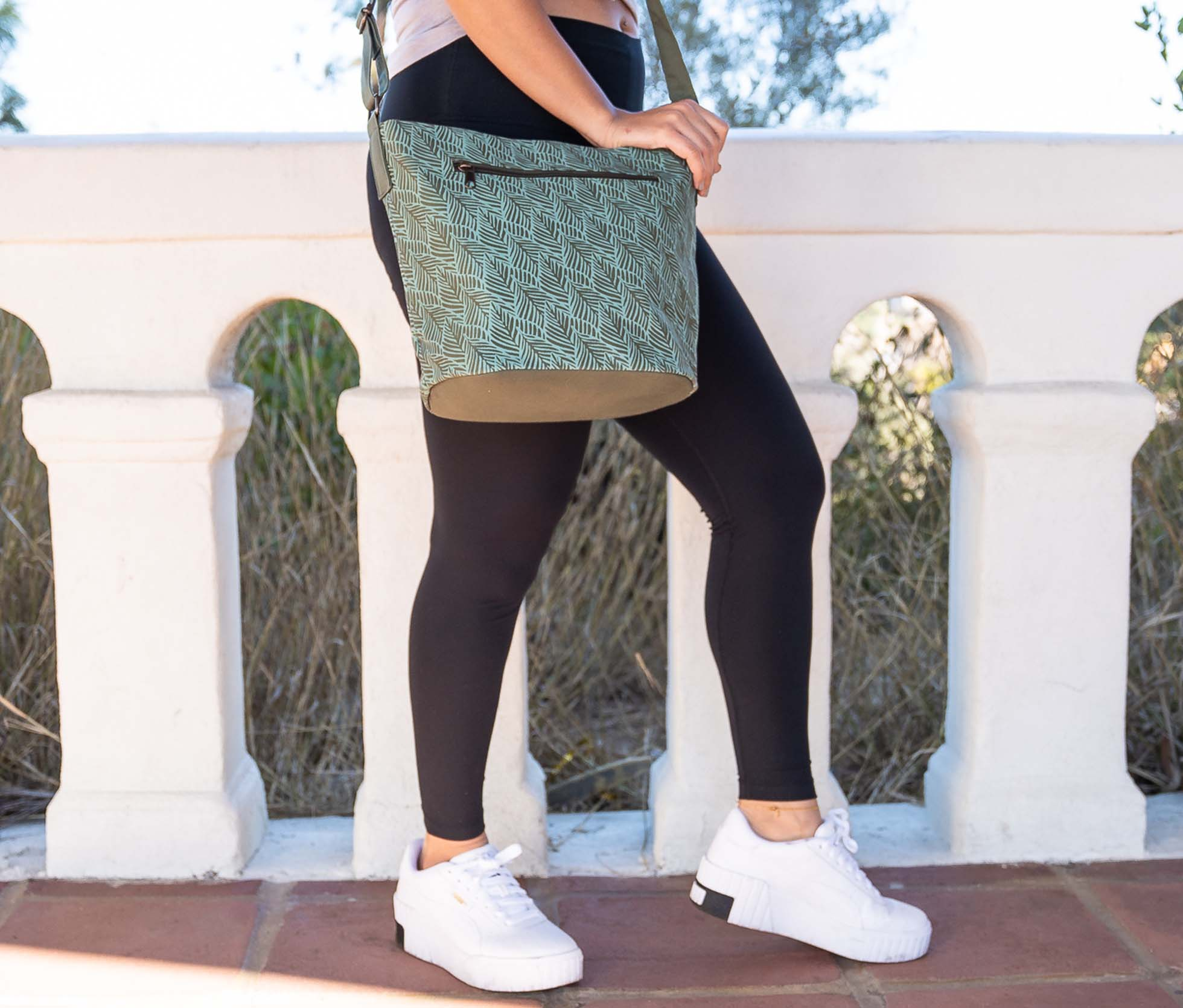 turquoise fair trade purse