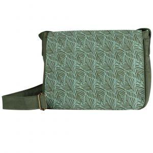 turquoise leaf messenger bag