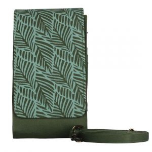 phone case wallet turquoise leaf