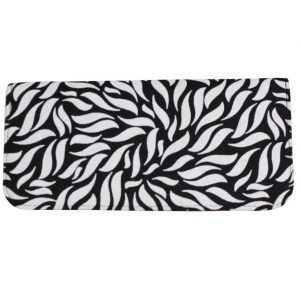 black white canvas wallet