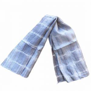 grey silk tie dye scarf
