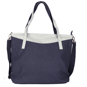 Denim Large Shoulder Bag