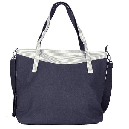 Denim Large Shoulder Bag