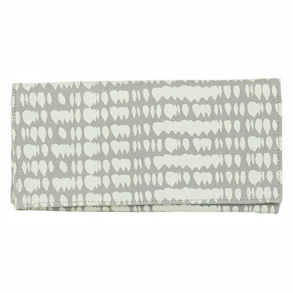grey raindrop canvas wallet