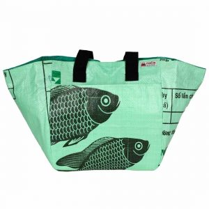 recycled light green market tote