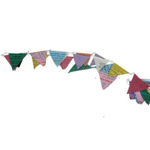 Recycled Banner Multicolor Pennant