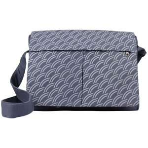 dark grey canvas messenger
