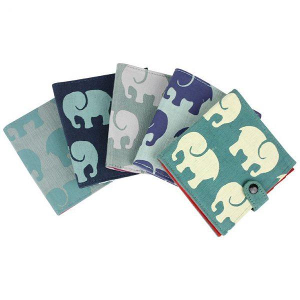 Cotton Wallet-Elephant Prints elephants group