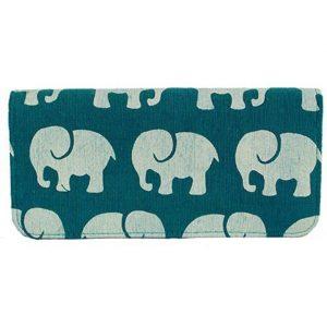 Cotton Long Wallet Elephant Prints