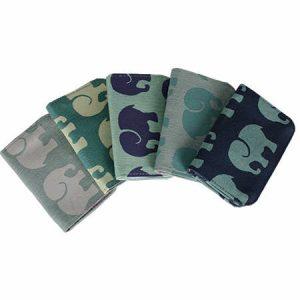 Cotton Card Holder Elephant Prints