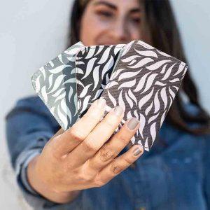 women holding small cardholder
