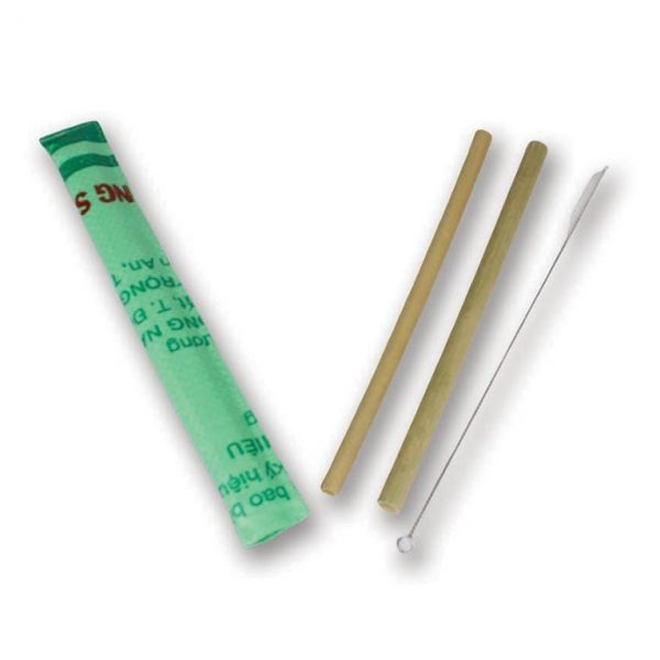 bamboo straws and cleaner