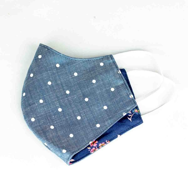 blue polka dot web
