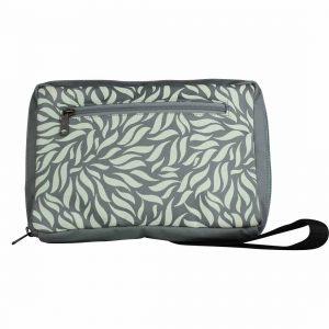 grey green belt bag