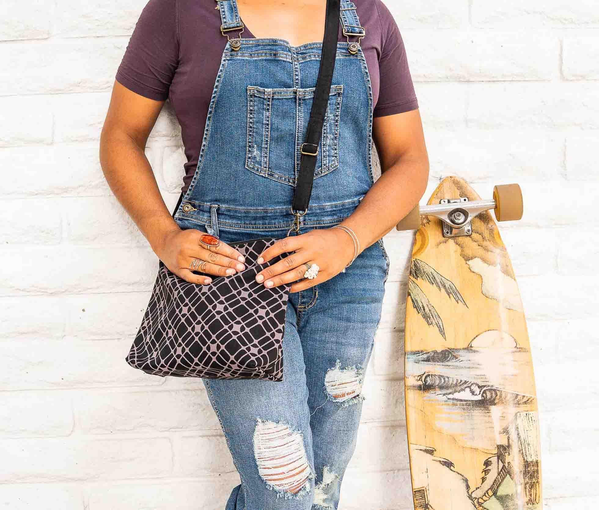 cute purse and skateboard